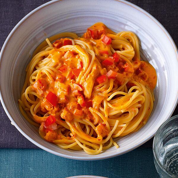 rezept für spaghetti in paprikasauce küchengötter