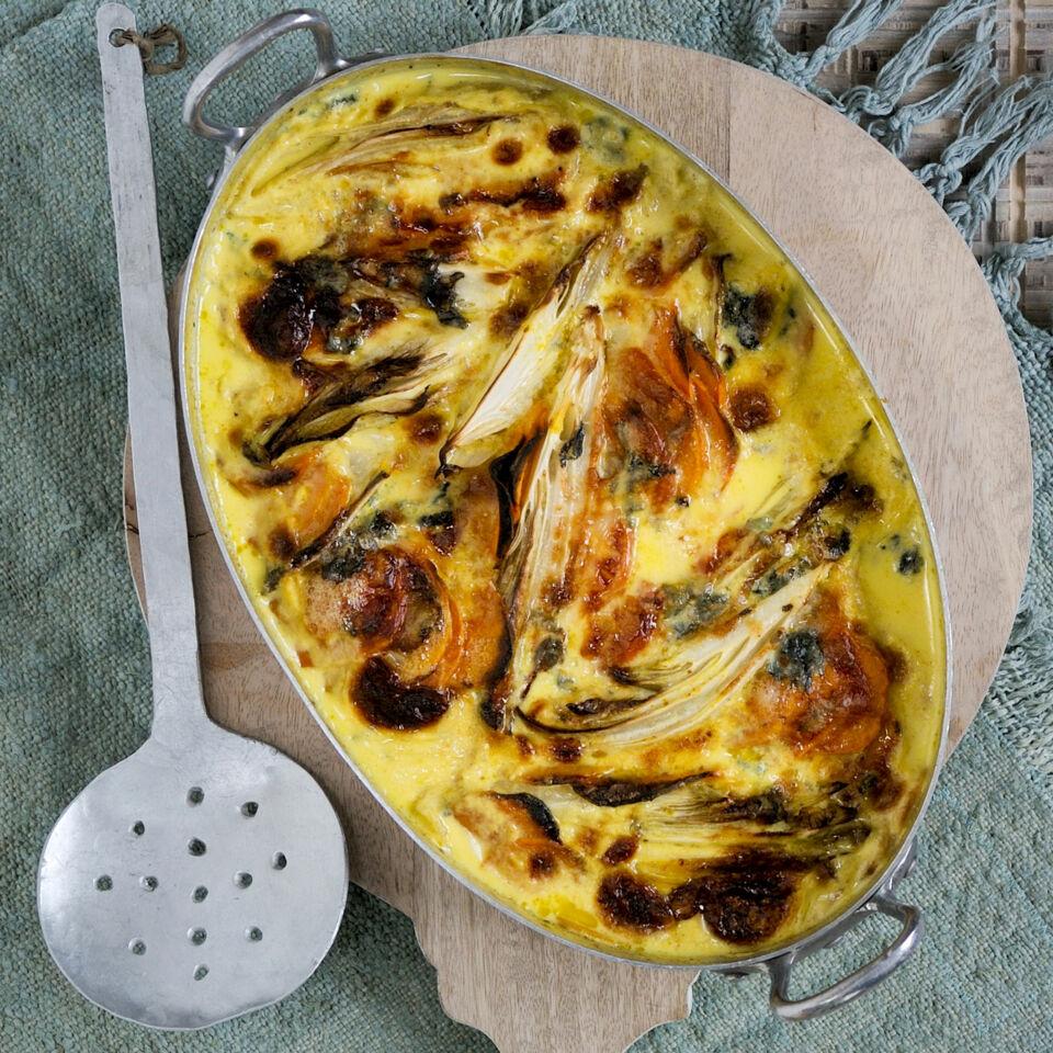 Chicorée Süßkartoffel Auflauf Rezept Küchengötter