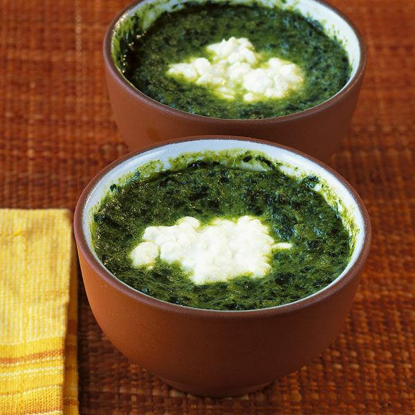 Ofen eier im spinatnest rezept k cheng tter - Eier weich kochen zeit ...