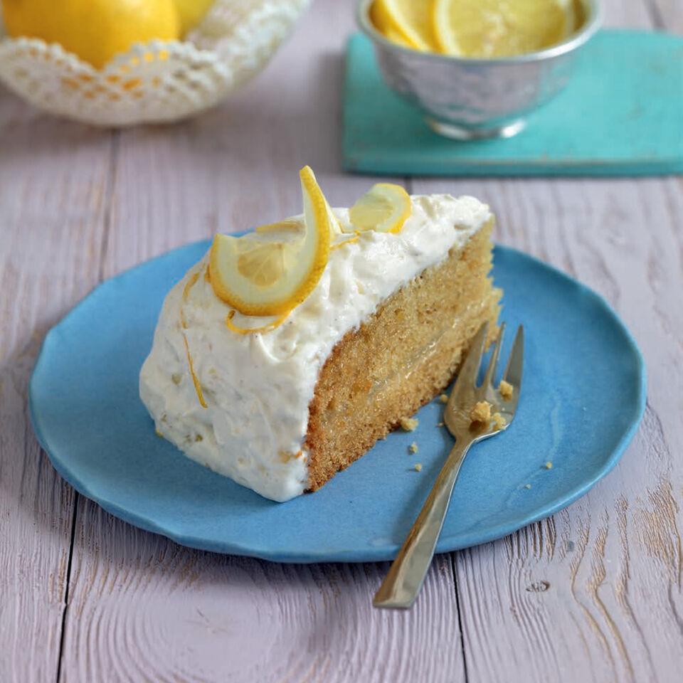Vegane Lemon Curd Torte Rezept Kuchengotter