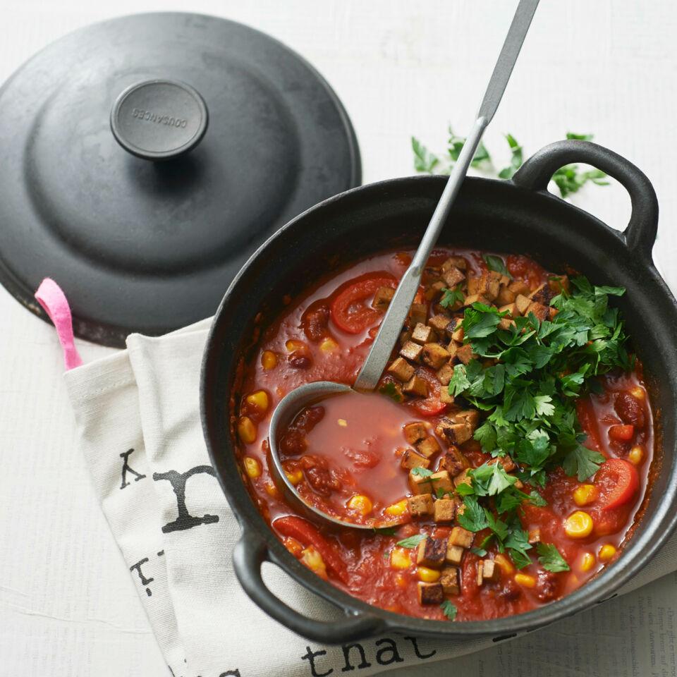 veganes chili sin carne mit tofu rezept k cheng tter. Black Bedroom Furniture Sets. Home Design Ideas