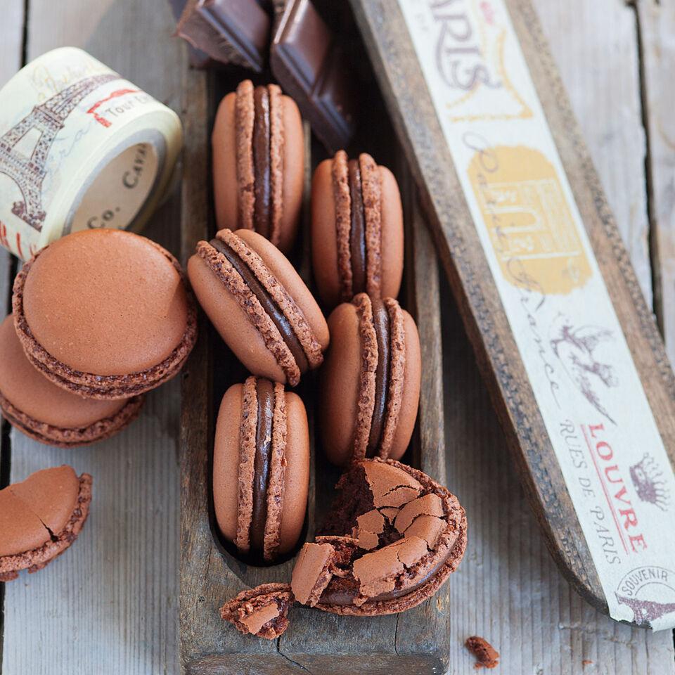 Luftige Schoko Macarons Rezept K 252 Cheng 246 Tter