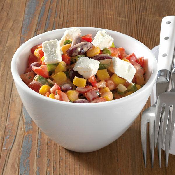 sommer salat mit ziegenk se rezept k cheng tter. Black Bedroom Furniture Sets. Home Design Ideas