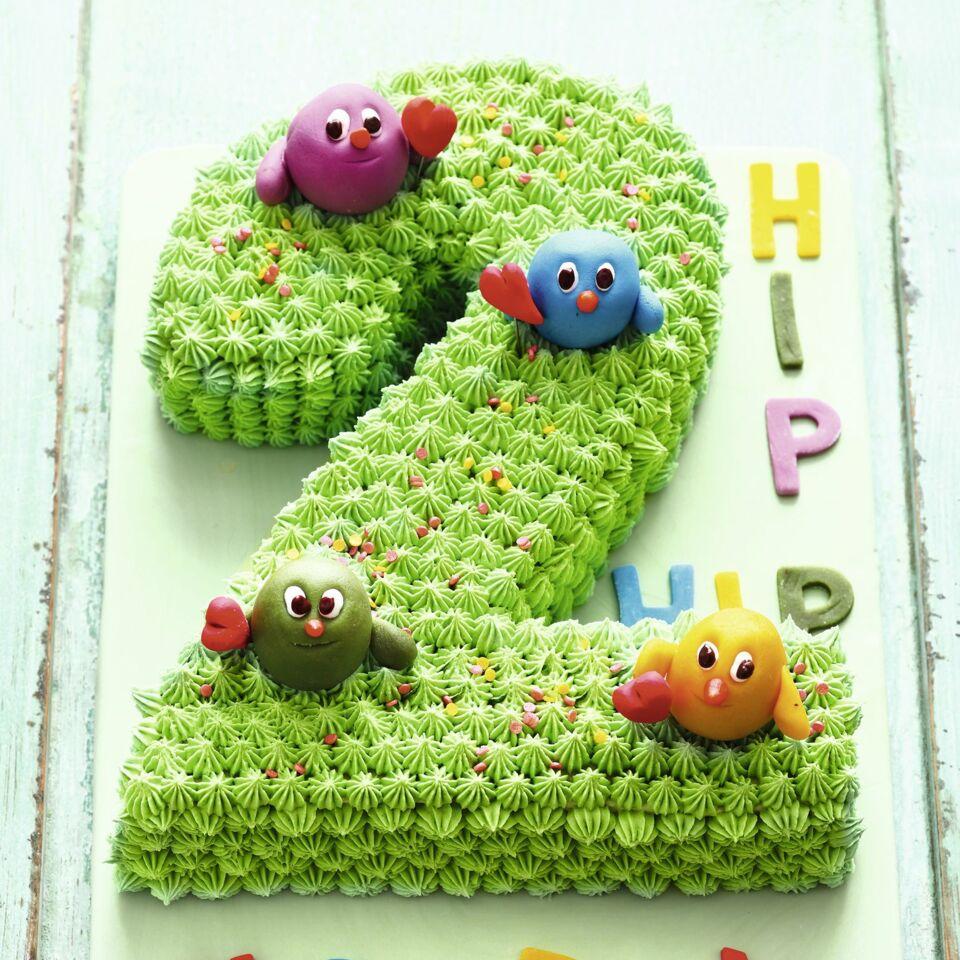 Bunter Zahlen Geburtstagskuchen Number Cake Kuchengotter