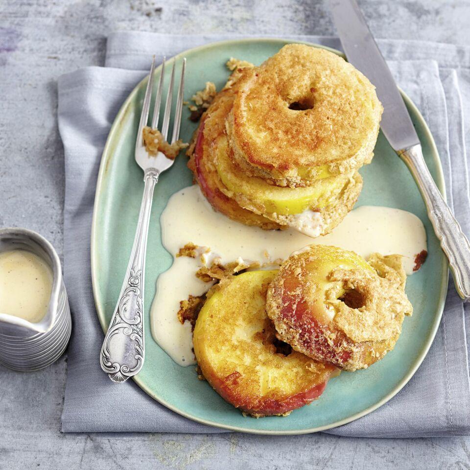 Apfel Kokos Kuchle Mit Vanillesauce Rezept Kuchengotter