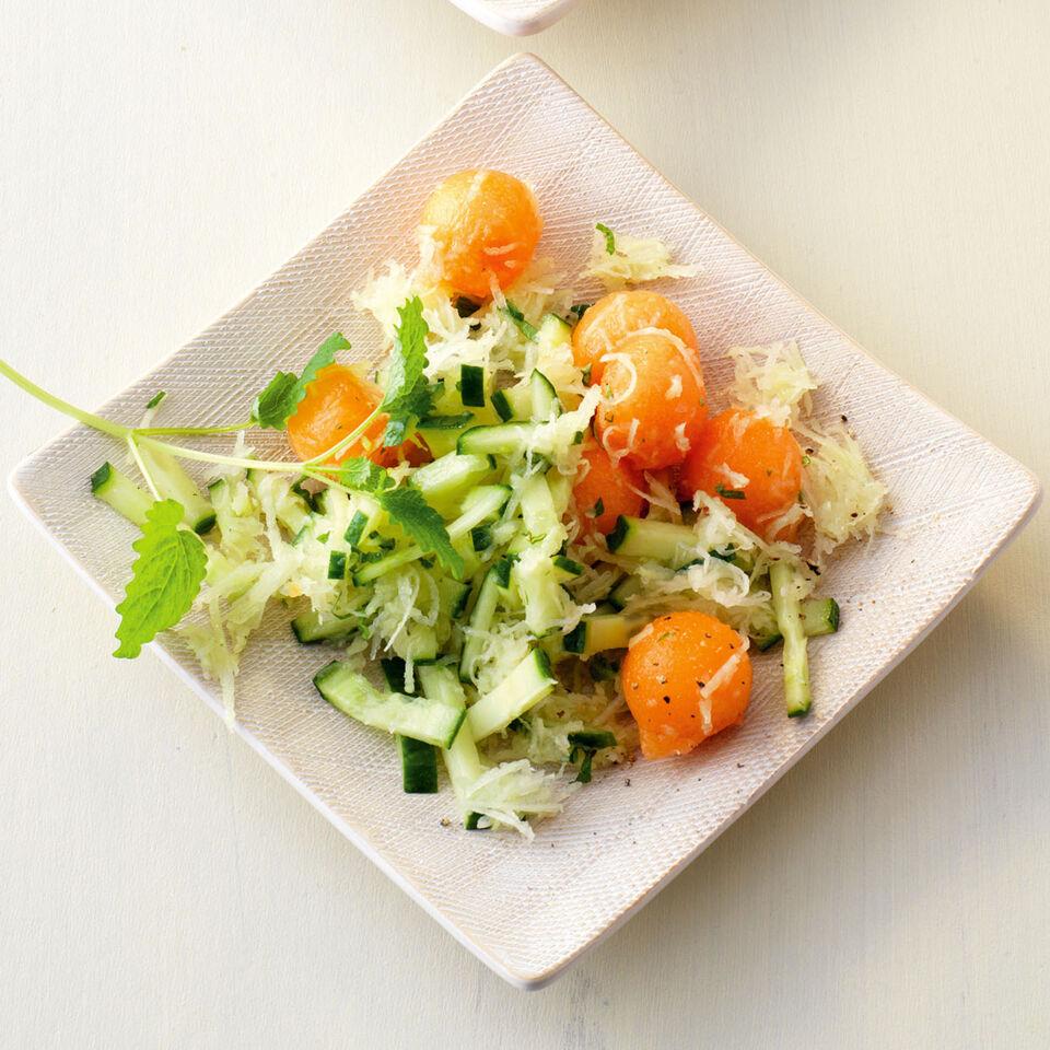 gurken melonen salat rezepte suchen. Black Bedroom Furniture Sets. Home Design Ideas
