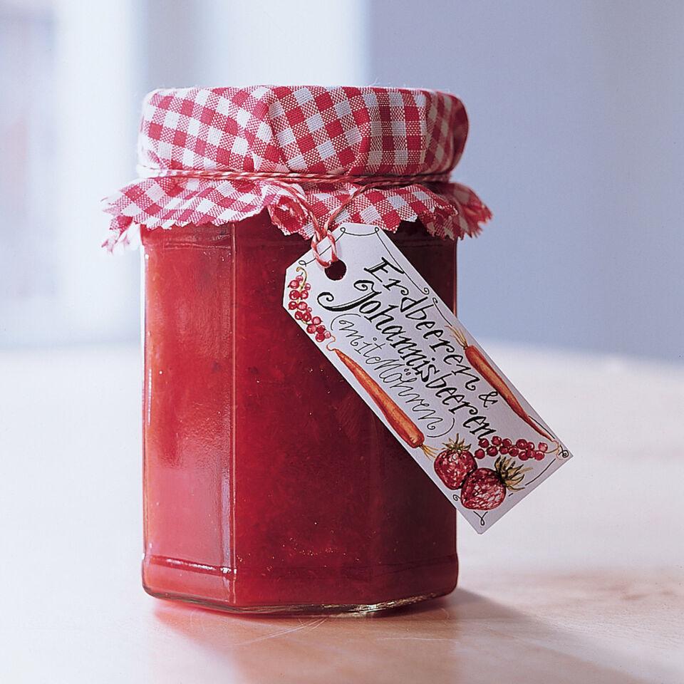Erdbeer Johannisbeer Marmelade Mit Möhren Rezept Küchengötter