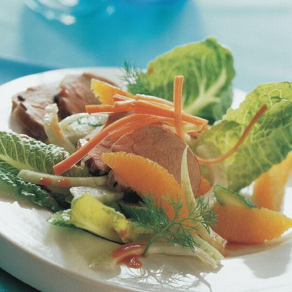 r mer fenchel salat mit orangen und schweinefilet rezept k cheng tter. Black Bedroom Furniture Sets. Home Design Ideas