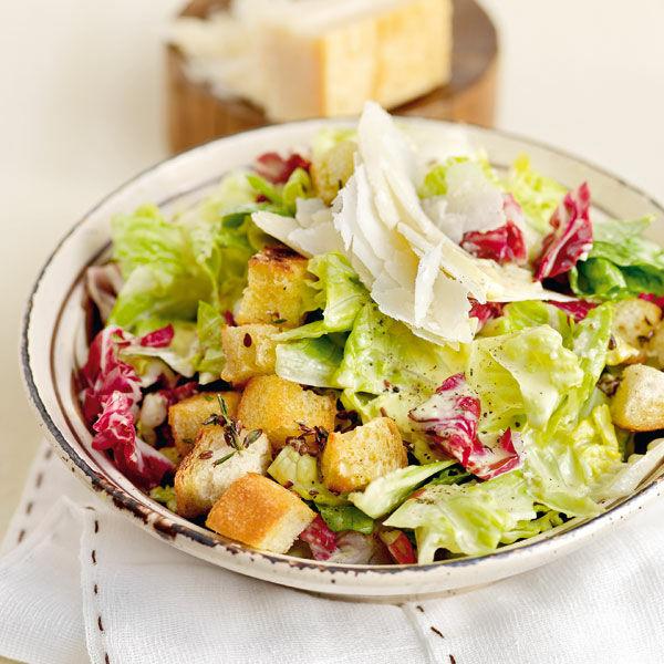 caesar 39 s salad mit leinsamen cro tons rezept k cheng tter. Black Bedroom Furniture Sets. Home Design Ideas