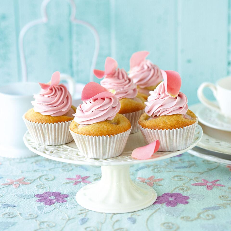 Rosen Litschi Cupcakes Rezept Kuchengotter