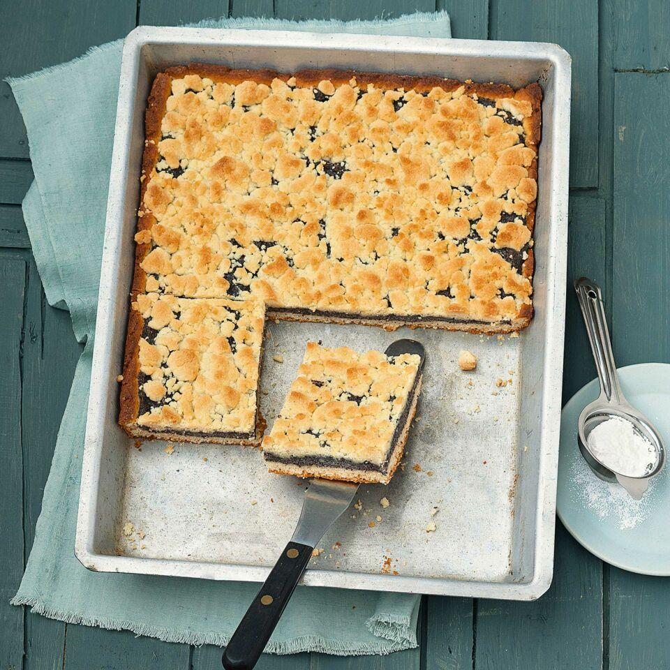 Mohn Streusel Kuchen Mit Quark Ol Teig Rezept Kuchengotter