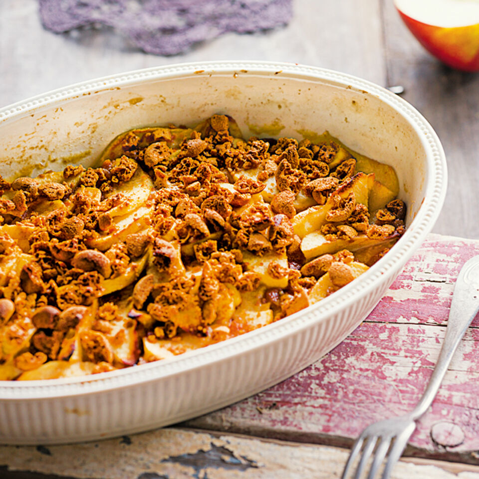 Apfel Amarettini Gratin Rezept Kuchengotter