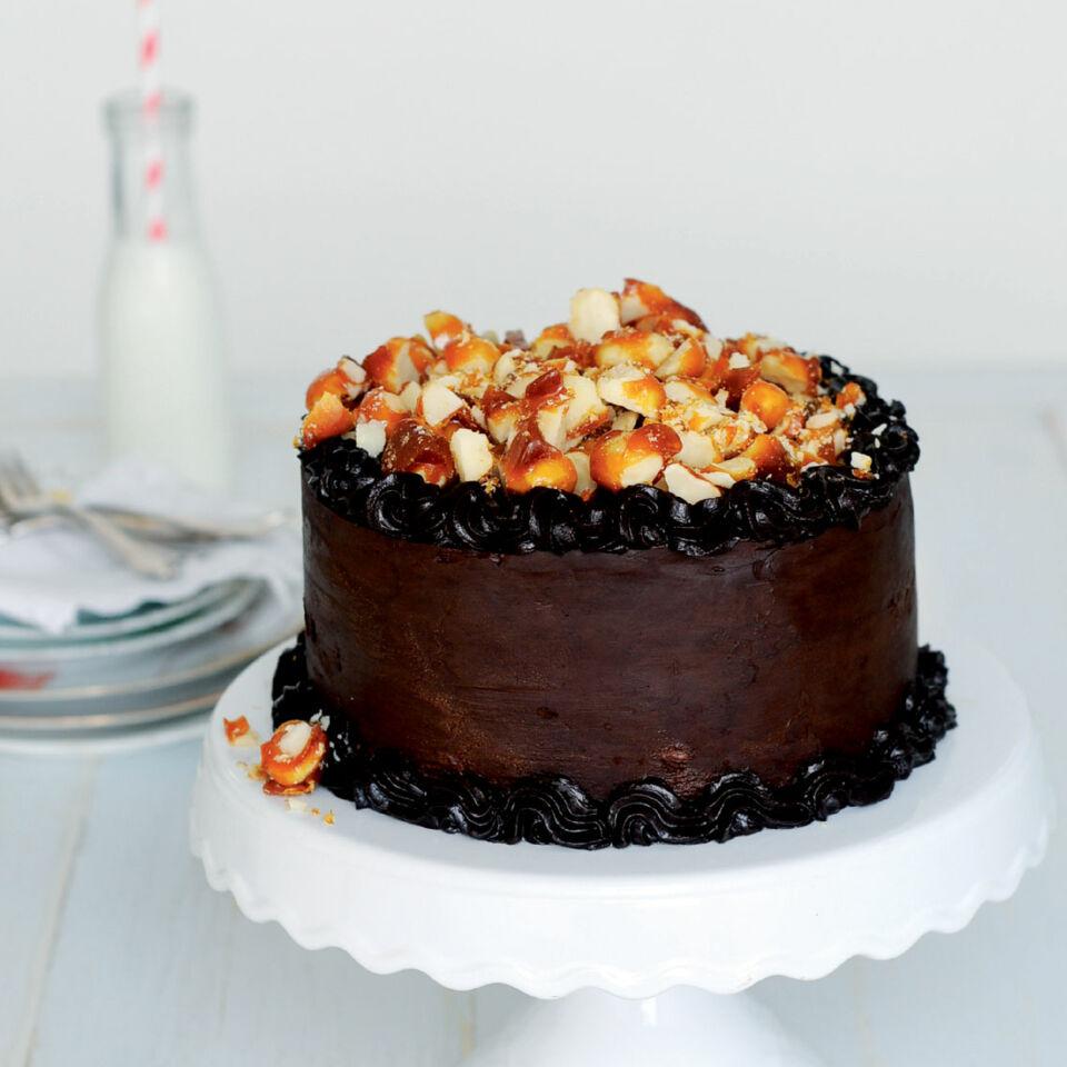 Macadamia Schokoladen Torte Mit Salzkaramell Rezept