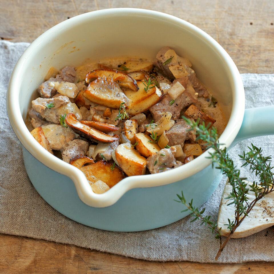 Steinpilz-Kalbsgulasch Rezept | Küchengötter