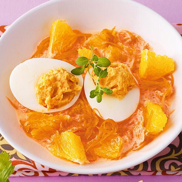 Gef llte eier auf m hrensalat rezept k cheng tter - Eier kochen dauer ...