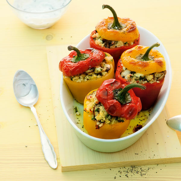 gefüllte paprika vegetarisch couscous