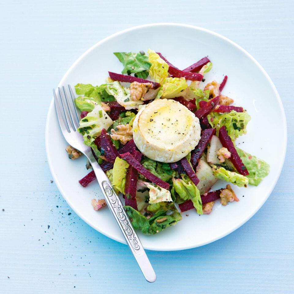 rote bete salat mit gratiniertem ziegenk se rezept k cheng tter. Black Bedroom Furniture Sets. Home Design Ideas