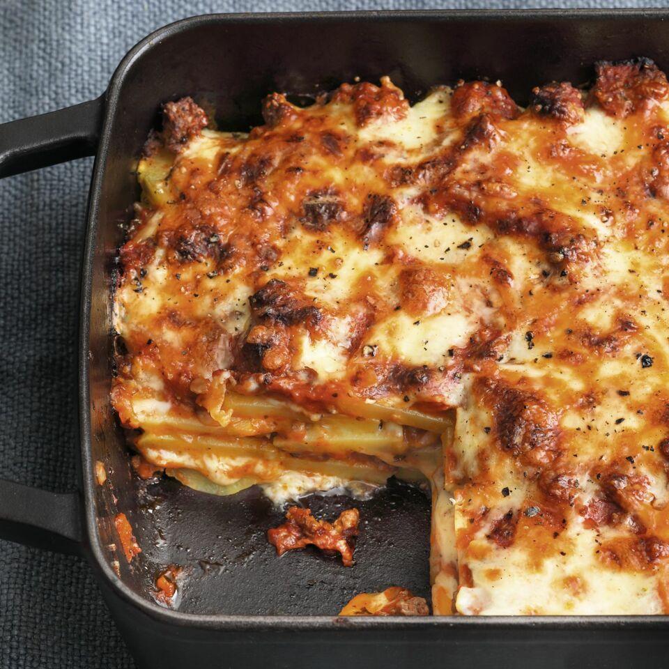Kartoffel-Lasagne mit Hackfleisch
