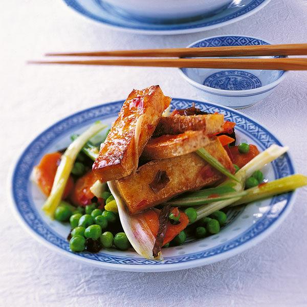 tofu mit gem se rezept k cheng tter. Black Bedroom Furniture Sets. Home Design Ideas