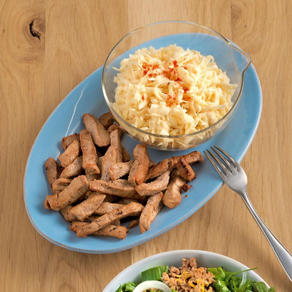 Schweinefilet mit Selleriesalat