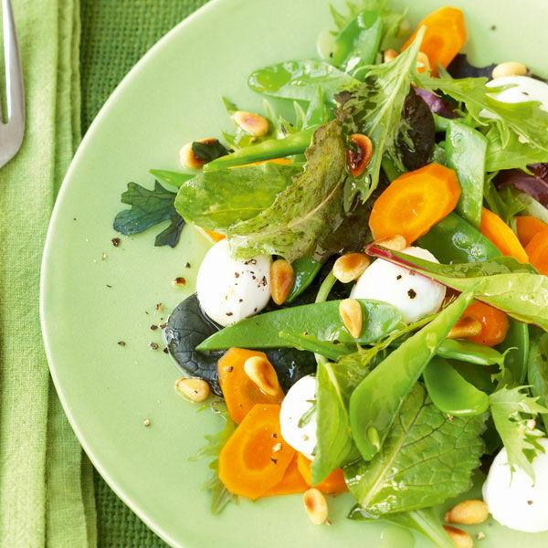 Bunter Gemüse Blattsalat Rezept Küchengötter