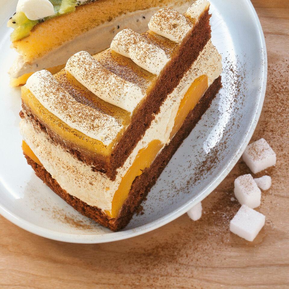 Cappuccino-Pfirsich-Torte Rezept