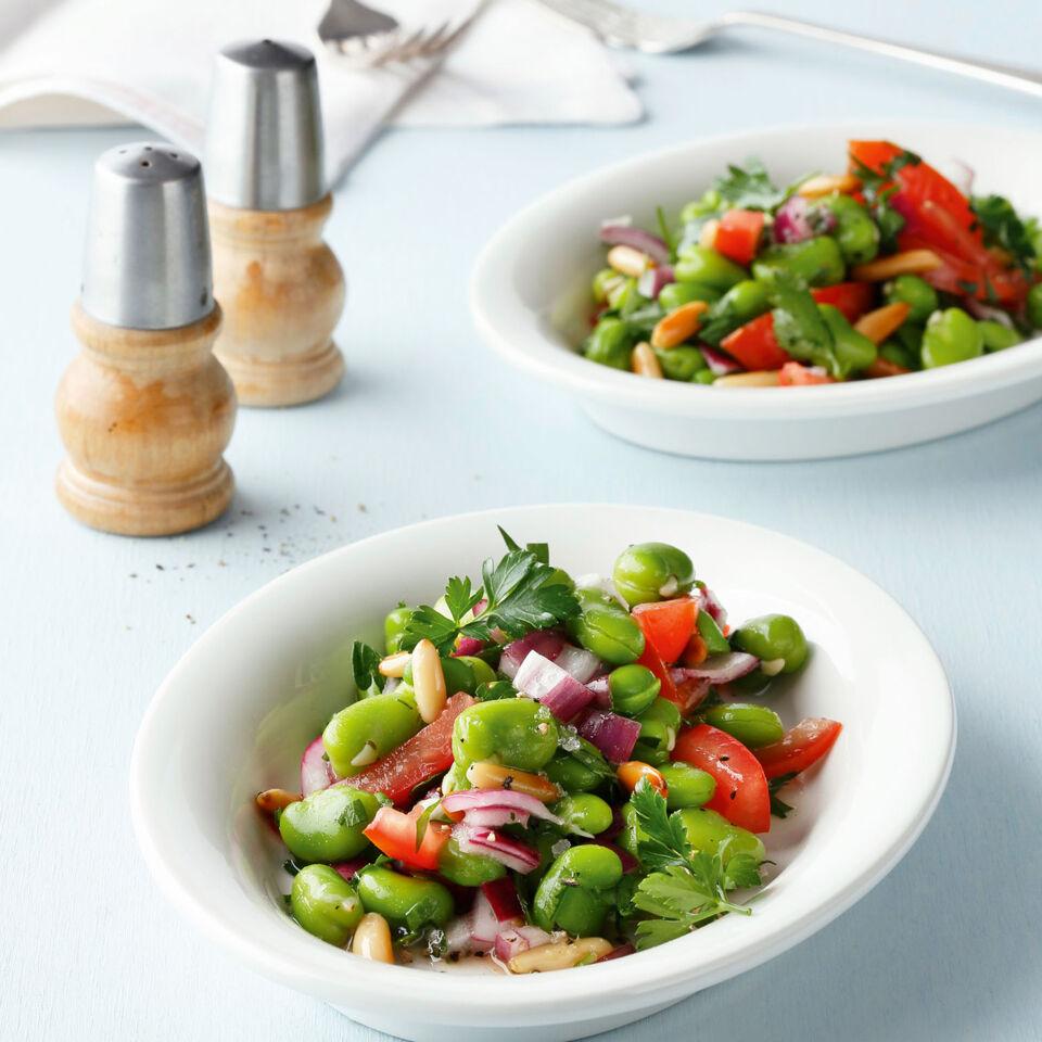 dicke bohnen salat rezept k cheng tter. Black Bedroom Furniture Sets. Home Design Ideas