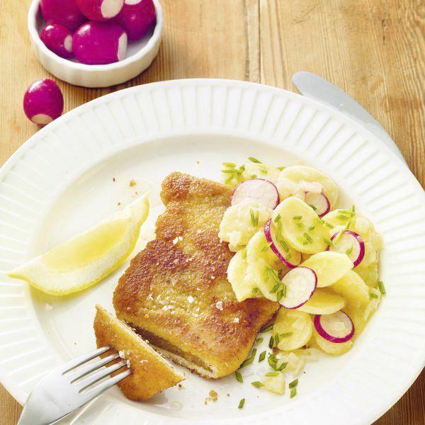 seitan schnitzel wiener art mit kartoffelsalat rezept k cheng tter. Black Bedroom Furniture Sets. Home Design Ideas
