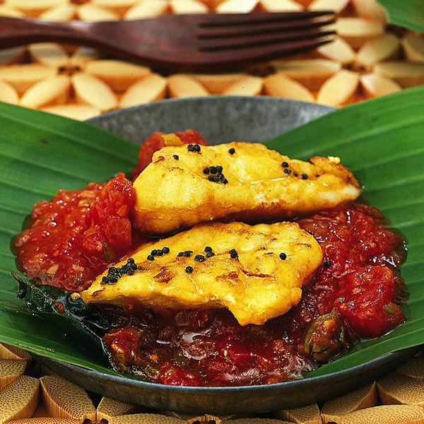 fisch mit indischer tomatensauce rezept k cheng tter. Black Bedroom Furniture Sets. Home Design Ideas