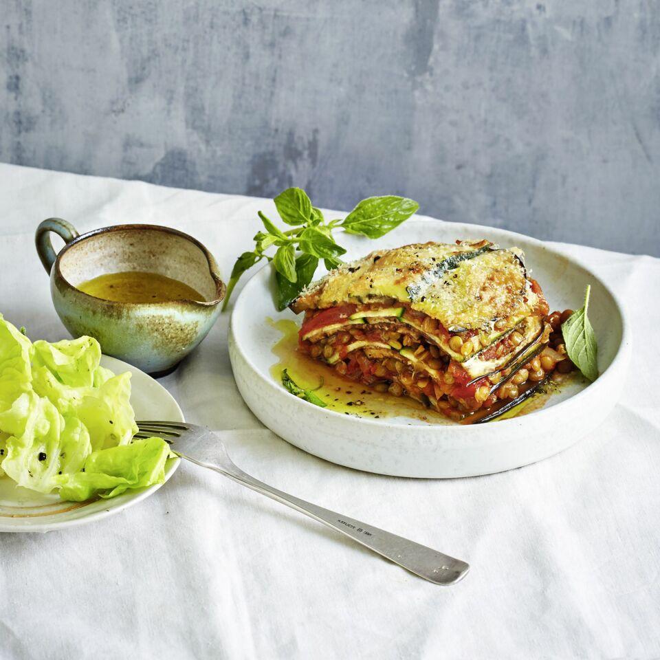 Vegetarische lasagne zucchini
