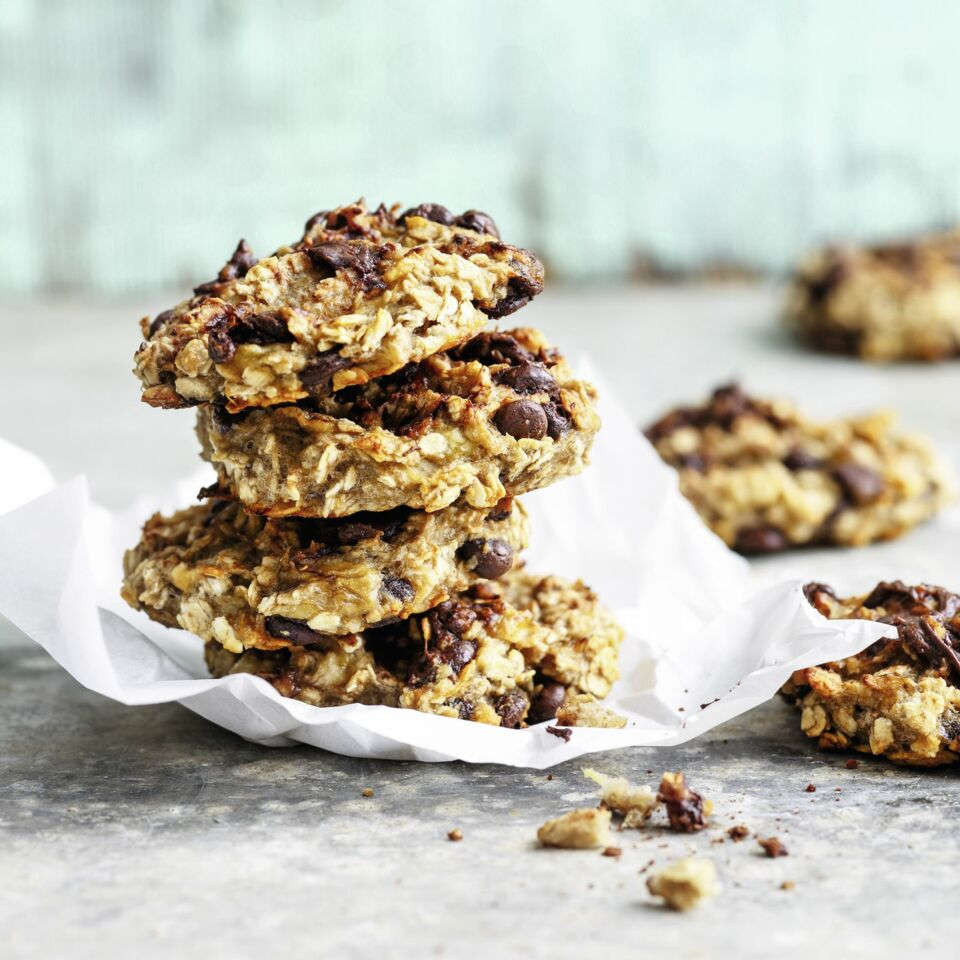 Schnelle Schoko Bananen Cookies Rezept Küchengötter