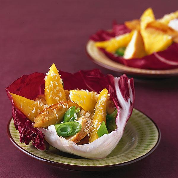 mango h hnchen salat rezept k cheng tter. Black Bedroom Furniture Sets. Home Design Ideas