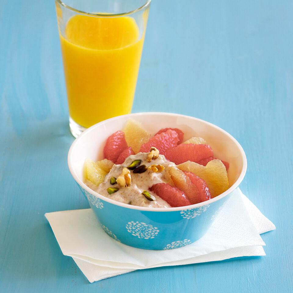 Grapefruits mit kerniger Zimtcreme Rezept | Küchengötter