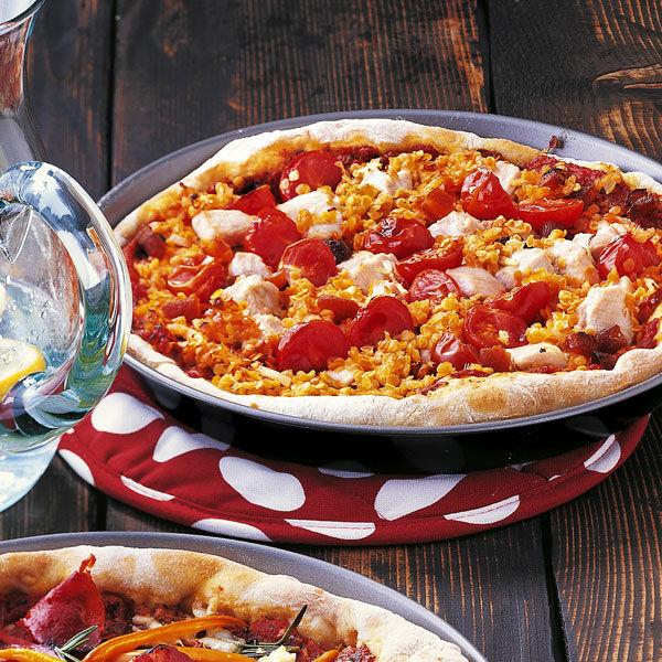 rote linsen pizza mit putenfleisch rezept k cheng tter. Black Bedroom Furniture Sets. Home Design Ideas