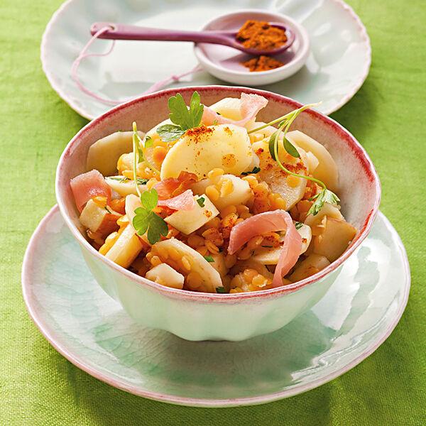 petersilienwurzel salat mit linsen rezept k cheng tter. Black Bedroom Furniture Sets. Home Design Ideas