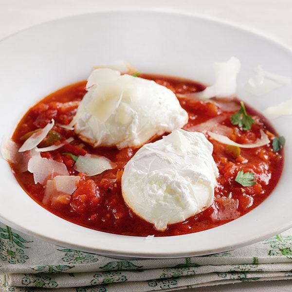 Pochierte eier mit teufelssauce rezept k cheng tter - Eier kochen dauer ...