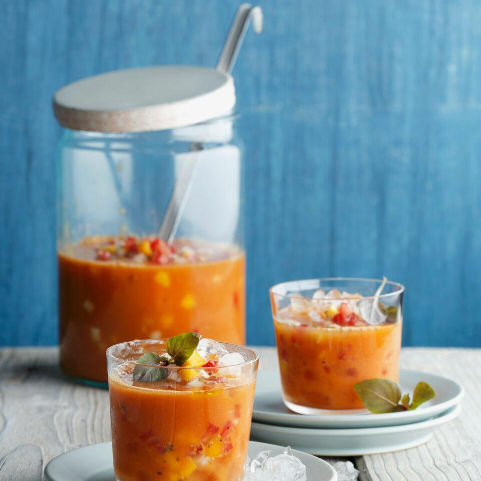 Mango Gazpacho Recipe — Dishmaps