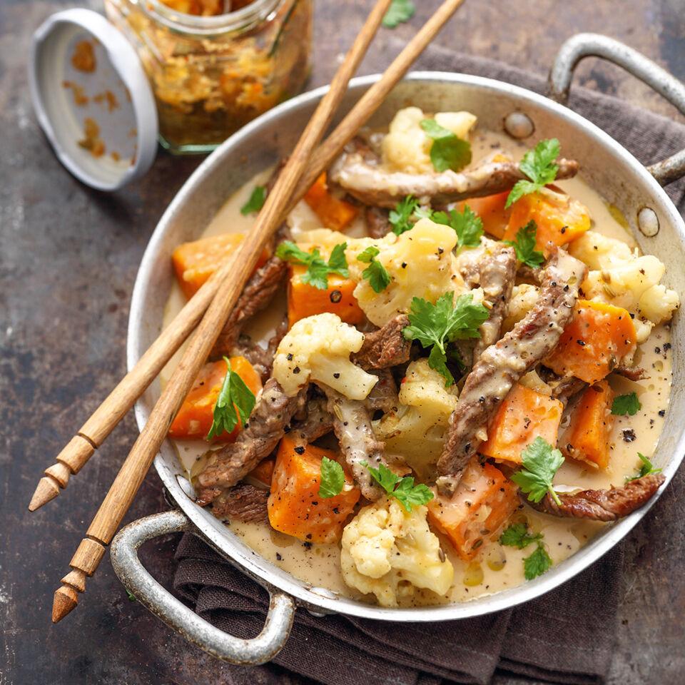 Süßkartoffel-Rindfleisch-Eintopf