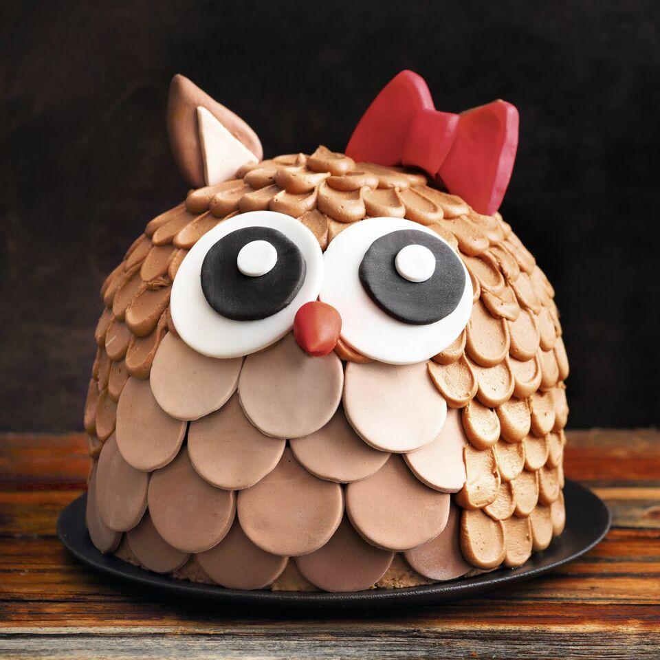 Eulen Torte Aus Creme Und Leckerem Schokokuchen Kuchengotter