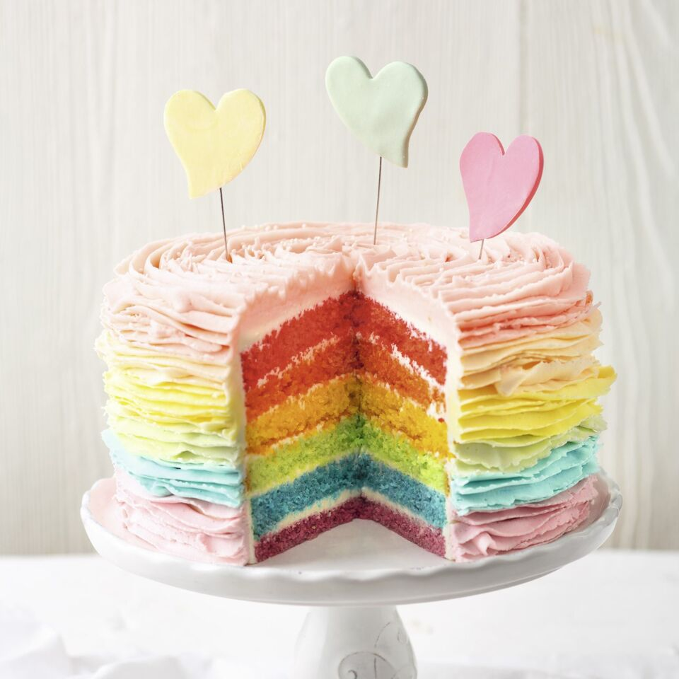Buttercreme Regenbogen Torte Layer Cake Kuchengotter