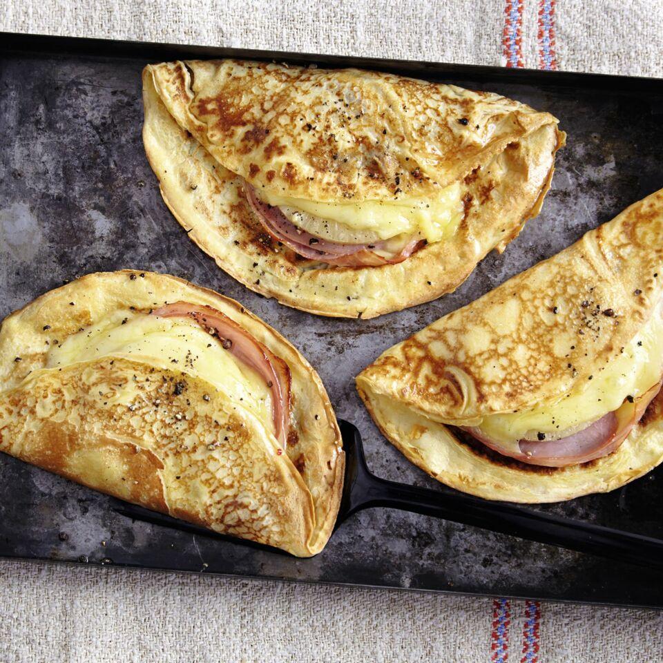 Pfannkuchen Hawaii Mit Käse Und Ananas Küchengötter