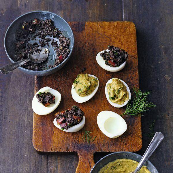 Gef llte eier mit olivencreme rezept k cheng tter - Eier kochen dauer ...