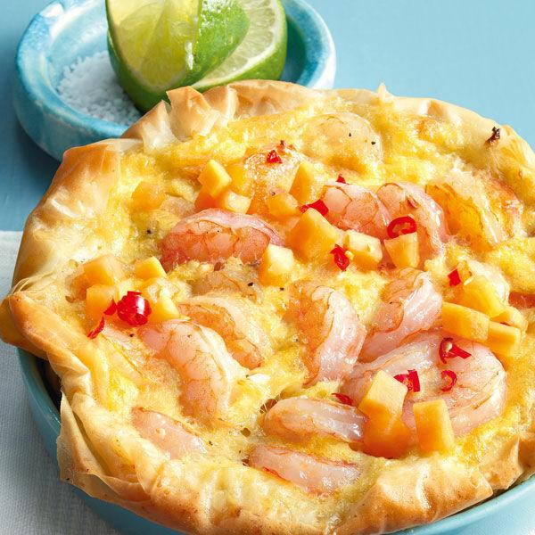 Karibische Küche Rezepte   Karibische Garnelen Tarte Rezept Kuchengotter