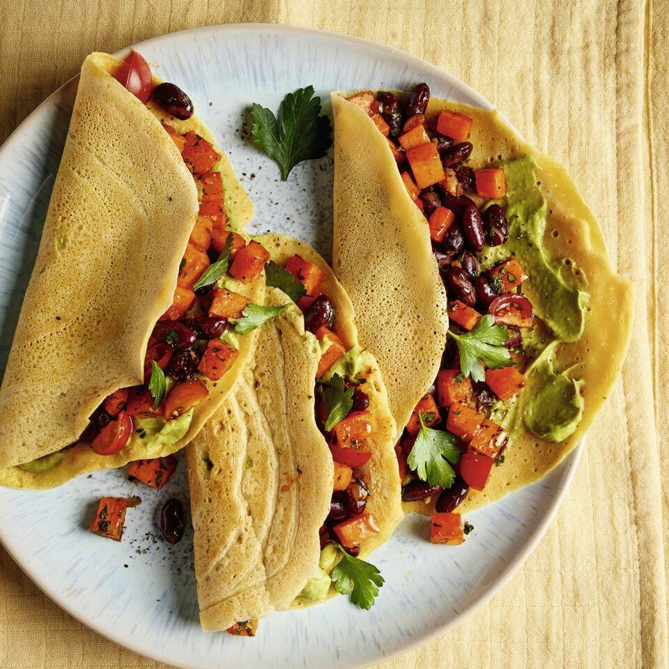 Kichererbsen-Tacos