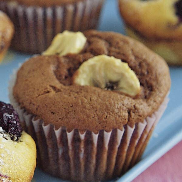schokoladige bananen muffins rezept k cheng tter. Black Bedroom Furniture Sets. Home Design Ideas