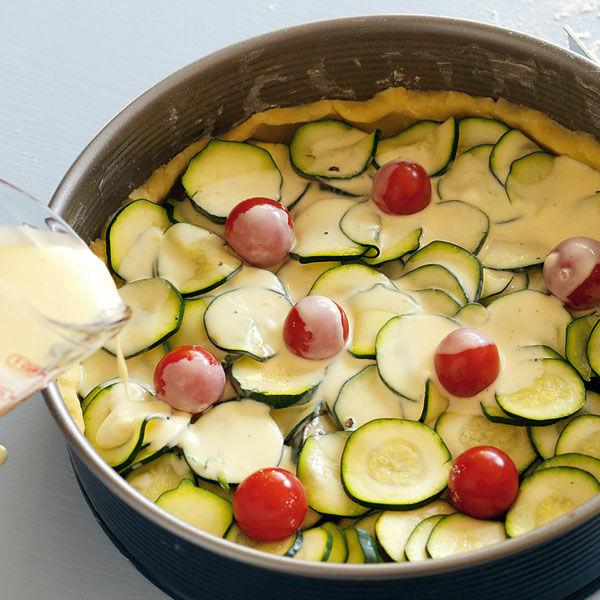 zucchini tomaten quiche rezept k cheng tter. Black Bedroom Furniture Sets. Home Design Ideas
