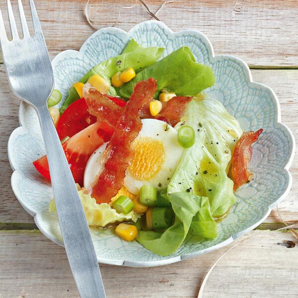 gemischter salat mit speck chips rezept k cheng tter. Black Bedroom Furniture Sets. Home Design Ideas