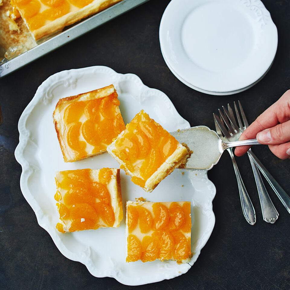 käsekuchen mit mandarinen blech