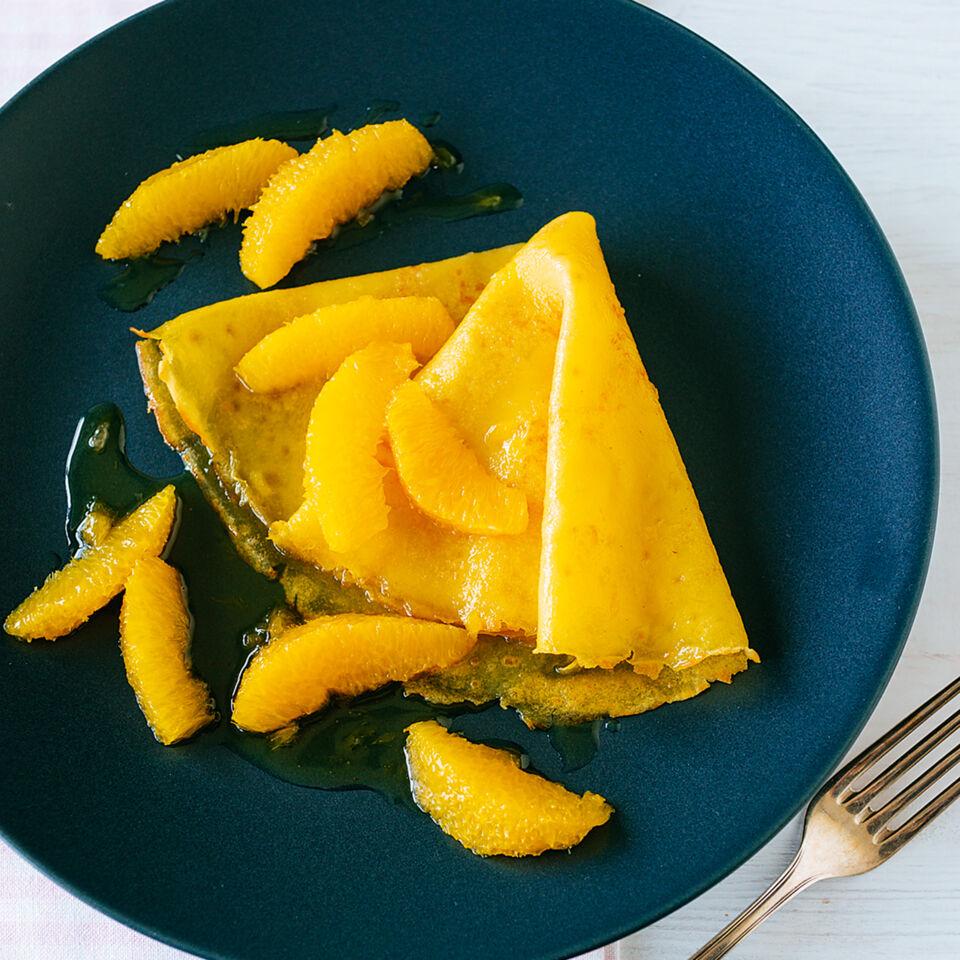 cr pes mit orangensauce rezept glutenfrei k cheng tter. Black Bedroom Furniture Sets. Home Design Ideas