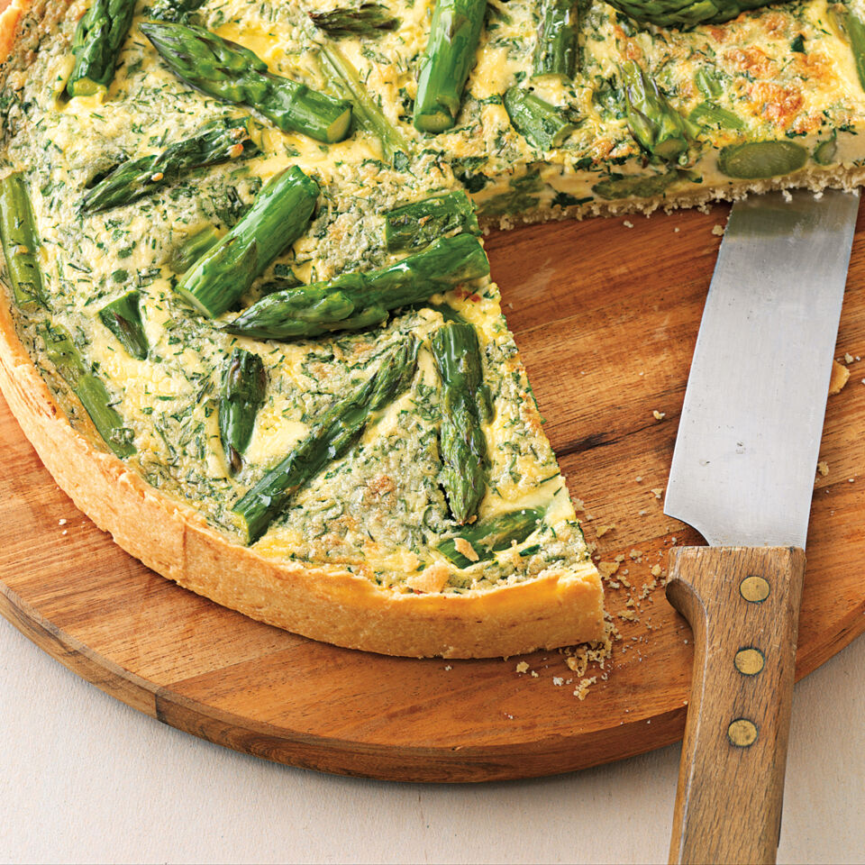 rezept f r quiche mit gr nem spargel k cheng tter. Black Bedroom Furniture Sets. Home Design Ideas